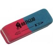 Radiera cauciuc pentru creion/cerneala, 40/cut, ARTIGLIO - rosu/albastru